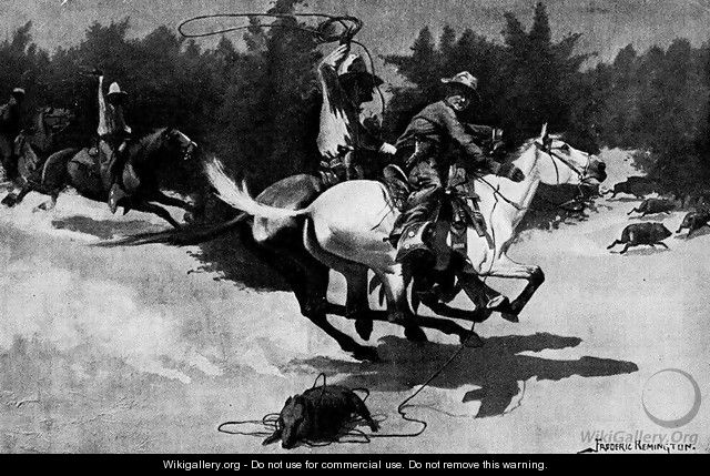 A Peccary Hunt in Northern Mexico - Frederic Remington