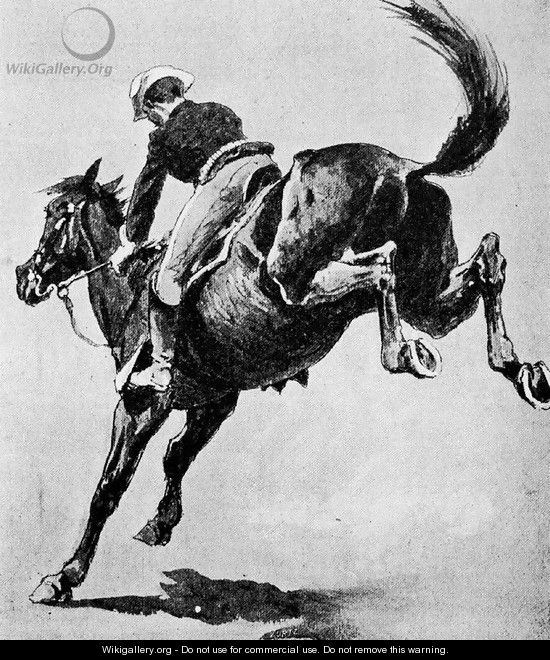 Training Army Horses to Stand Fire - Frederic Remington
