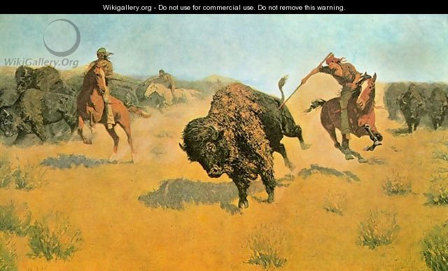The Buffalo Runners - Frederic Remington