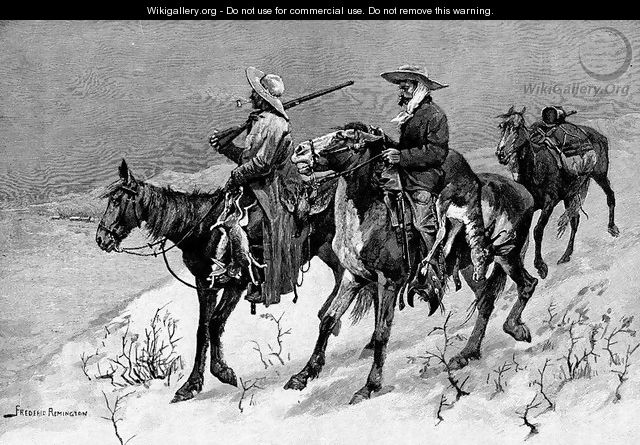 Thanksgiving Dinner for the Ranch - Frederic Remington
