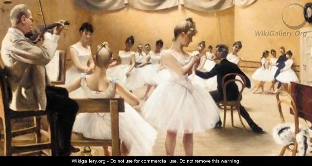 Time at Kgl. Teaters ballet school - Paul-Gustave Fischer