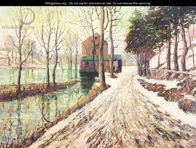 Melting Snow - Ernest Lawson