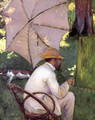 The Painter under His Parasol - Gustave Caillebotte