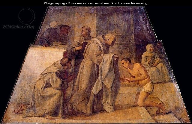 San Diego de Alcala receives the Franciscan habit - Annibale Carracci