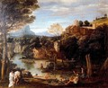 Landscape with bathers - Annibale Carracci