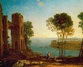 The Bay's Port with Apollo and the Cumaean sibyl - Claude Lorrain (Gellee)