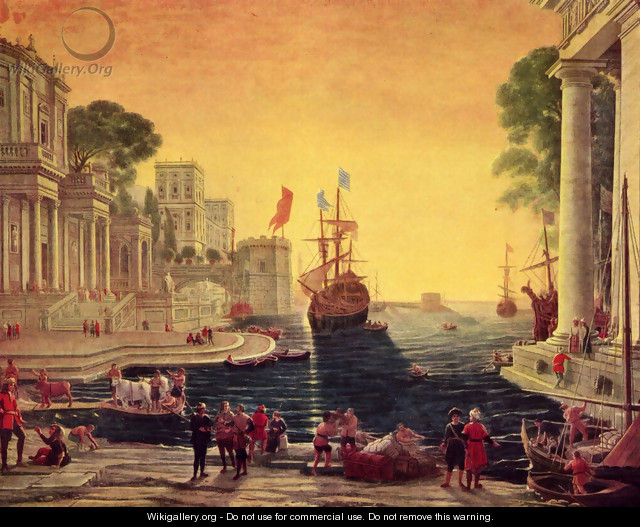 Odysseus returns Chryseis to Her Father - Claude Lorrain (Gellee)