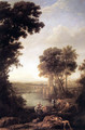 Landscape with Moses saved from the waters - Claude Lorrain (Gellee)