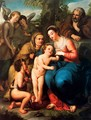 The Holy Family with St. Elizabeth, St. John the Baptist and two angels - Anton Raphael Mengs