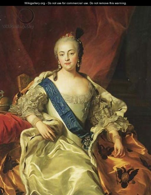 Yelizaveta Petrovna, Empress and Autocrat of all the Russias (1709-62) - Carle van Loo
