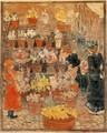 Roma, Flower Stall (also known as Flower Stall or Roman Flower Stall) - Maurice Brazil Prendergast