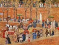 Pincian Hill, Rome (also known as Afternoon, Pincian Hill) - Maurice Brazil Prendergast