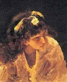 Female Head Etude for Picture - Ilya Efimovich Efimovich Repin