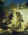 Cry of prophet Jeremiah on the Ruins of Jerusalem (on a Bible subject) - Ilya Efimovich Efimovich Repin