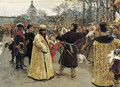 Arrival of the tsars Peter I and Ivan V - Ilya Efimovich Efimovich Repin