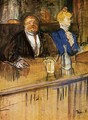 At the Café, The Customer and the Anemic Cashier - Henri De Toulouse-Lautrec