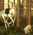 The Story of Nastagio degli Onesti (detail of the second episode) - Sandro Botticelli (Alessandro Filipepi)