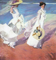 Walk on the seafront - Joaquin Sorolla y Bastida