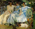 My wife and my daughters in the garden - Joaquin Sorolla y Bastida