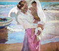 Leaving the bath 2 - Joaquin Sorolla y Bastida