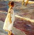 Girl on the beach - Joaquin Sorolla y Bastida
