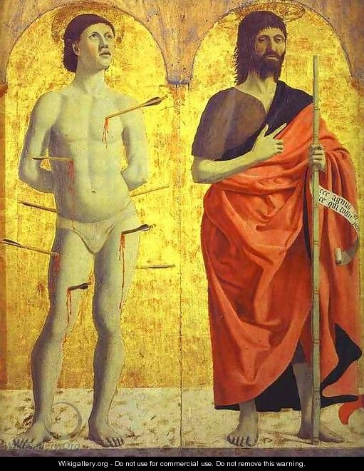 St. Sebastian and St. John the Baptist - Piero della Francesca
