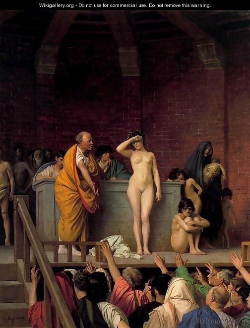 Slave Auction or Slave Market in Rome - Jean-Léon Gérôme
