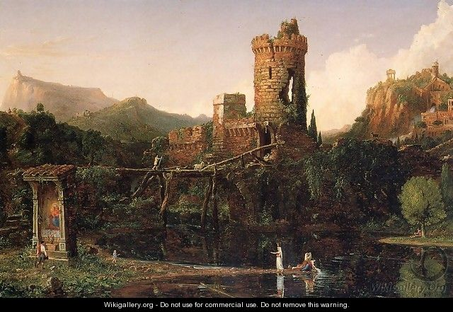 Landscape Composition, Italian Scenery - Thomas Cole