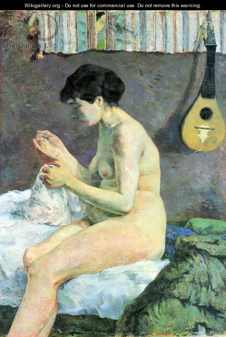 Study of a Nude. Suzanne Sewing - Paul Gauguin