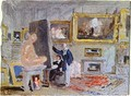 Painter at the Staffelei - Joseph Mallord William Turner