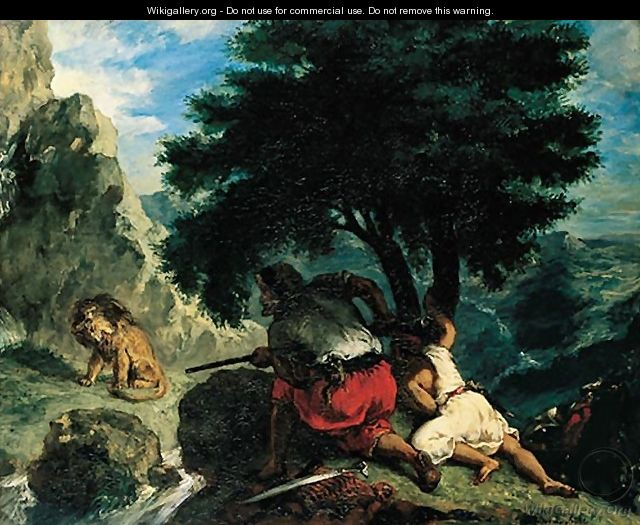 The Lion Hunt in Marocco - Eugene Delacroix