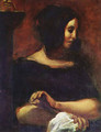 Portrait of George Sand - Eugene Delacroix