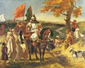 Moroccan sheikh visits his trunk - Eugene Delacroix