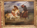 Confrontation of knights in the countryside - Eugene Delacroix