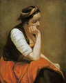 A thinking girl - Jean-Baptiste-Camille Corot