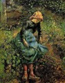 Young Peasant Girl with Stick - Camille Pissarro