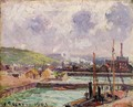 View of Dunquesne and Berrigny Basins in Dieppe - Camille Pissarro