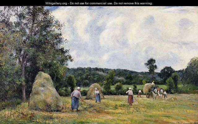 The Harvest at Montfoucault 2 - Camille Pissarro