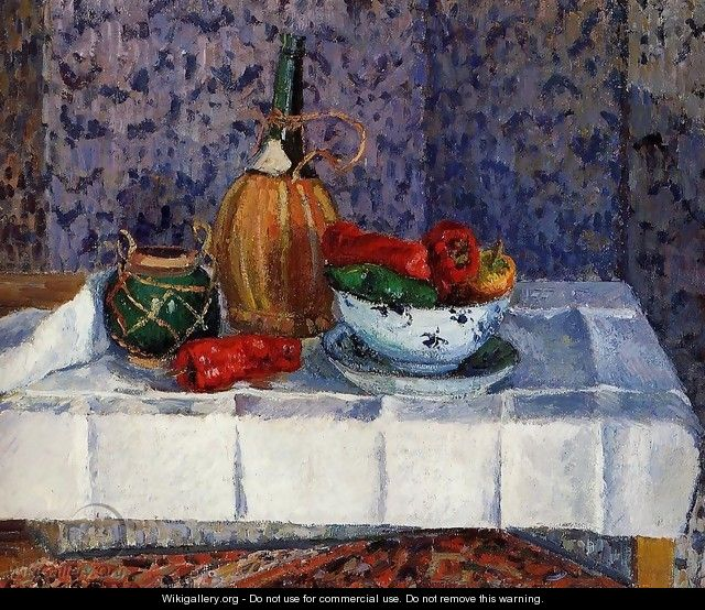 Still Life with Spanish Peppers - Camille Pissarro