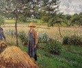 Grey Weather, Morning with Figures, Eragny - Camille Pissarro
