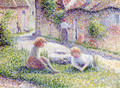 Children on a farm - Camille Pissarro