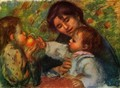 Portrait of Jean Renoir and Gabrielle with their child - Pierre Auguste Renoir