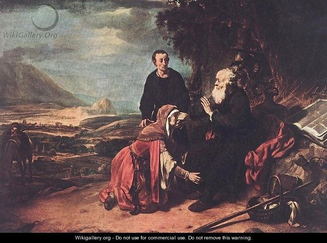 Prophet Eliseus and the Woman of Sunem 1664 - Gerbrand Van Den Eeckhout