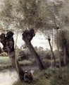 Saint-Nicholas-les-Arras, Willows on the Banks of the Scarpe - Jean-Baptiste-Camille Corot