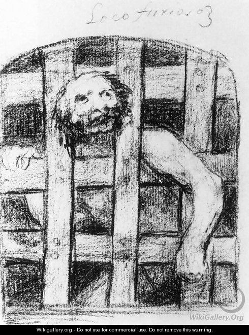A Lunatic behind Bars - Francisco De Goya y Lucientes