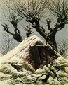 Snow-covered hut - Caspar David Friedrich