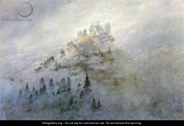 Morning fog in mountains - Caspar David Friedrich