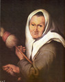 Old Woman with a Distaff - Bartolome Esteban Murillo