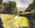 The Sunken lane - Georges Seurat