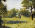 The Clearing (Landscape with a Stake) - Georges Seurat